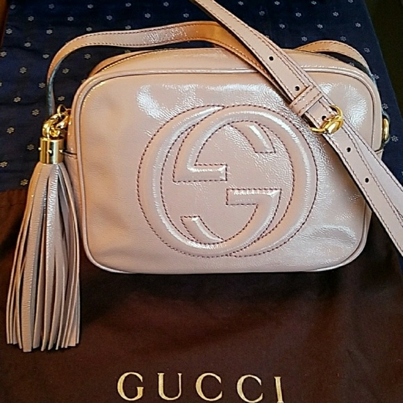 34b8da4f5 Gucci Bags | Soho Disco Nude Patent Leather Crossbody Bag | Poshmark